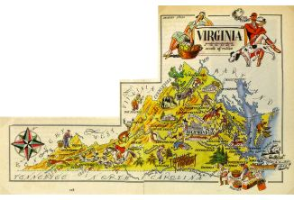 1946 Map of Virginia