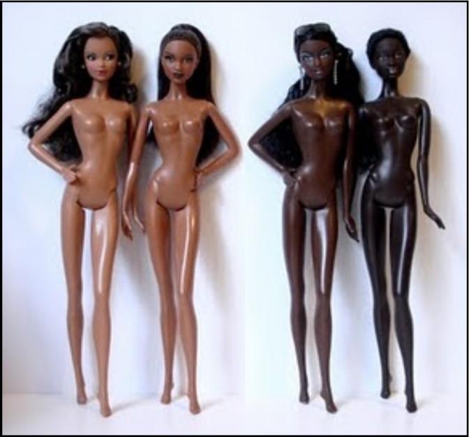 light-dark-skin Barbies