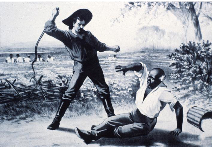 slave being beaten by his white master